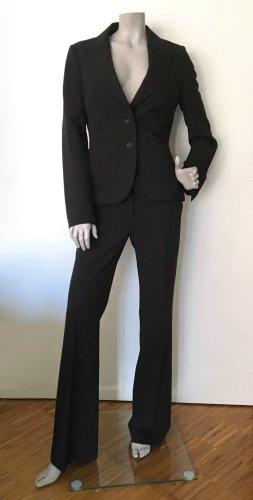 Hallhuber basic Traje de pantalón negro tejido mezclado