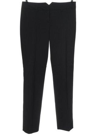 Hallhuber Anzughose schwarz-weiß Streifenmuster Business-Look