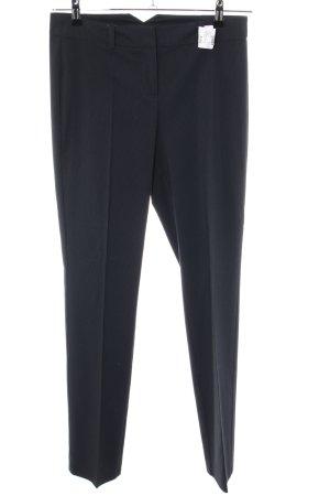 Hallhuber Anzughose schwarz Streifenmuster Casual-Look