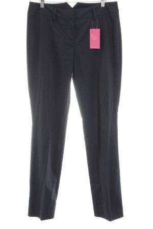 Hallhuber Anzughose weiß-dunkelblau Business-Look