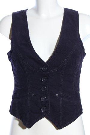 Hallhuber Anzugweste lila Streifenmuster Casual-Look