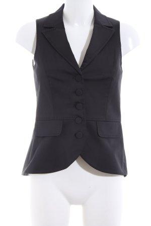 Hallhuber Anzugweste schwarz Casual-Look