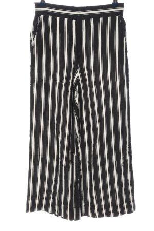 Hallhuber Baggy Pants schwarz-weiß Streifenmuster Casual-Look
