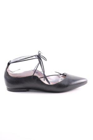 Hallhuber Ballerina a punta nero stile casual