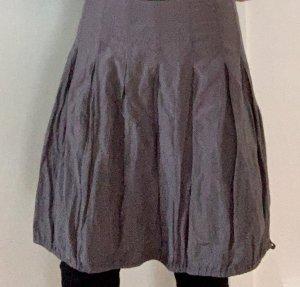 Hallhuber Jupe ballon argenté-gris clair coton