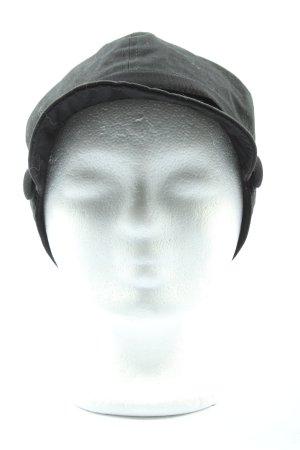 Hallhuber Baker's Boy Cap black casual look