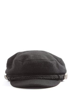Hallhuber Ballonmuts zwart casual uitstraling