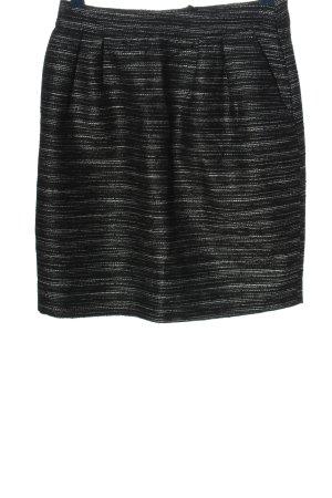 Hallhuber Ballonrok zwart-wit gestreept patroon casual uitstraling