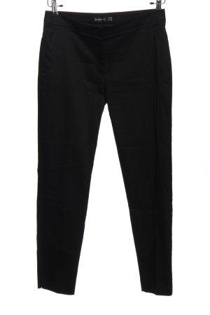 Hallhuber basic Pantalon «Baggy» noir style d'affaires