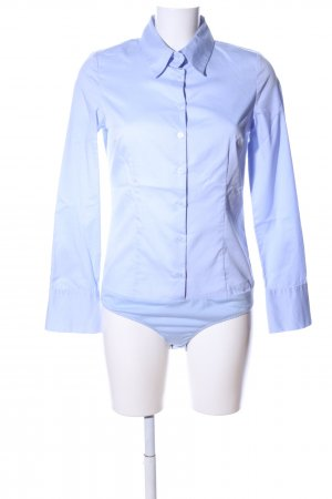 Hallhuber basic Blusa tipo body azul estilo «business»