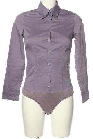 Hallhuber basic Blusa tipo body lila estilo clásico