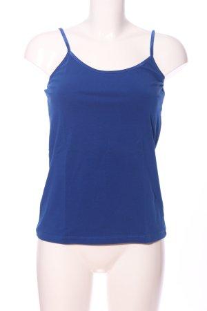 Hallhuber basic Basic Top blau Casual-Look