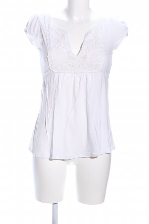 Hallhuber basic Gehaakt shirt wit elegant