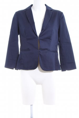 Hallhuber basic Kurz-Blazer blau Business-Look