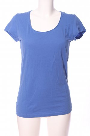 Hallhuber basic T-Shirt blau Casual-Look