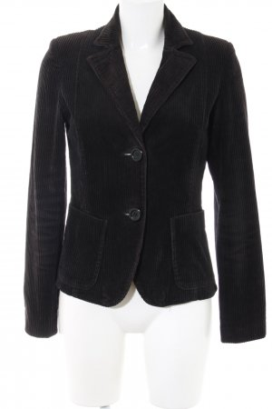 Hallhuber basic Long-Blazer schwarz Streifenmuster Business-Look