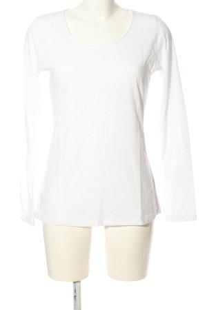 Hallhuber basic Longshirt weiß Casual-Look