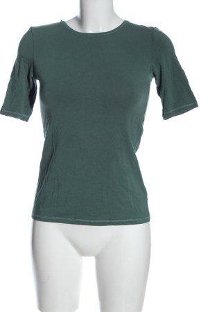 Hallhuber Basic-Shirt blau Casual-Look