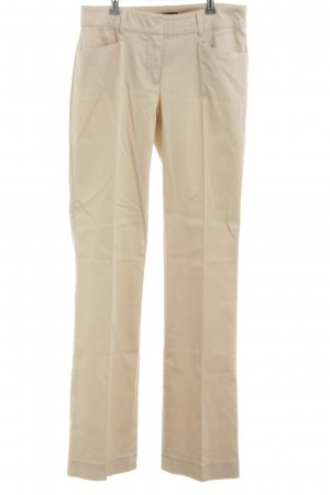 Hallhuber basic Stoffhose creme Business-Look