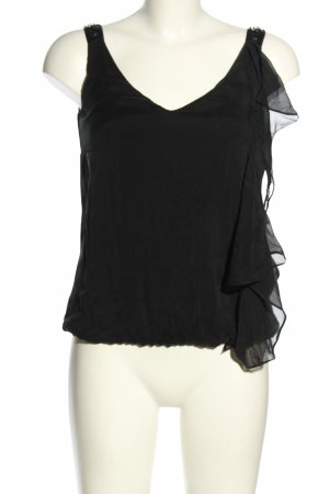 Hallhuber Basic topje zwart casual uitstraling