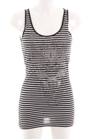Hallhuber Basic topje zwart-wit prints met een thema casual uitstraling