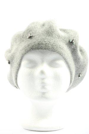 Hallhuber Beret light grey flecked elegant