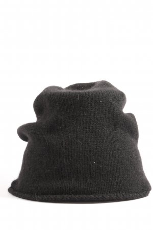 Hallhuber Beanie zwart casual uitstraling