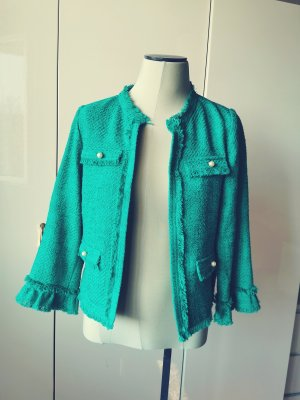 Hallhuber Blazer en tweed vert