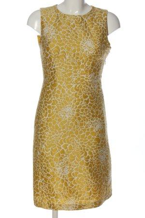 Hallhuber Abito longuette giallo pallido-bianco stampa integrale elegante