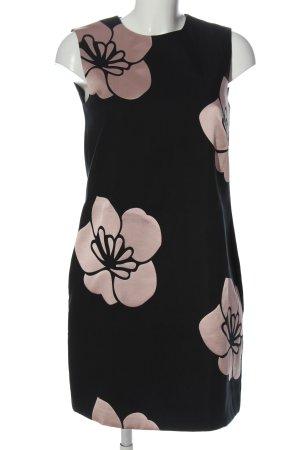 Hallhuber Pencil Dress black-cream flower pattern elegant