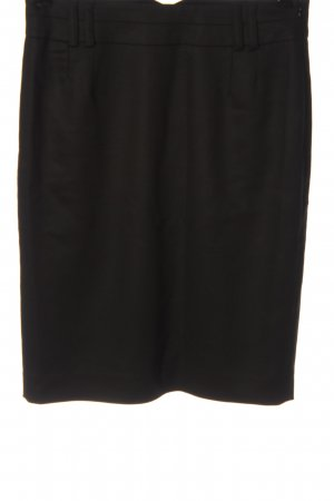 Hallhuber Falda de tubo marrón estilo «business»