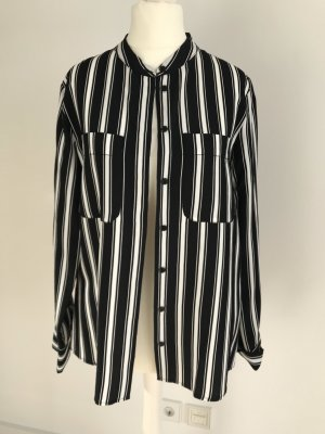 Hallhuber Bluse Hemd schwarz weiß 34 neu
