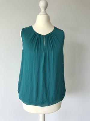 Hallhuber Zijden blouse petrol