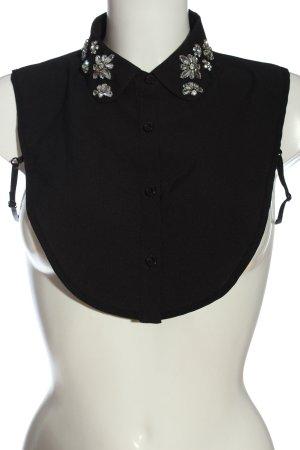 Hallhuber Empiècement de blouses noir style décontracté
