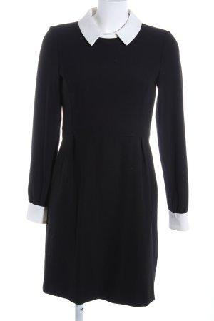 Hallhuber Blouse Dress black-white elegant