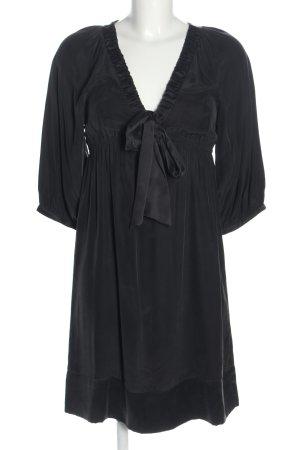 Hallhuber Blusenkleid schwarz Casual-Look