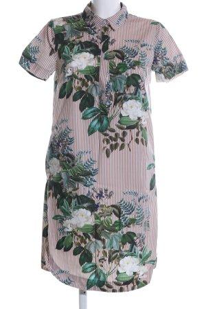 Hallhuber Blusenkleid braun-wollweiß Blumenmuster Casual-Look