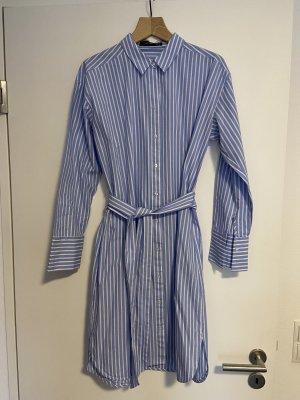 Hallhuber Blusenkleid Weiß-Blau-Gestreift
