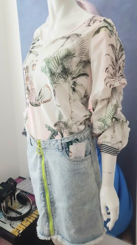 hallhuber Blusenshirt jeansrock only neu 36/38