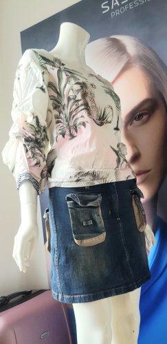 Hallhuber Blusenshirt und Designer jeansrock small