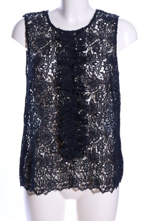 Hallhuber Blouse topje zwart casual uitstraling