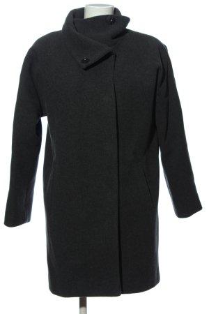 Hallhuber Manteau polaire noir moucheté style décontracté