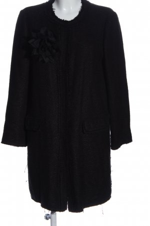 Hallhuber bodenlanger Mantel schwarz Casual-Look