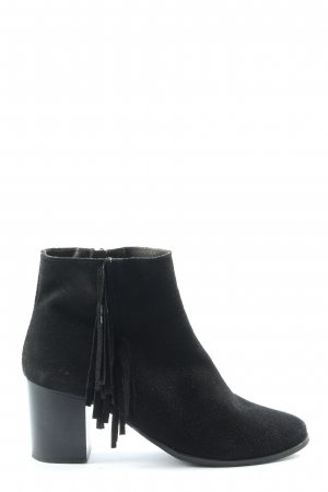 Hallhuber Booties schwarz Business-Look