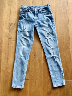 Hallhuber Boyfriend Jeans im Destroyed-Look