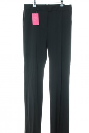 Hallhuber Bundfaltenhose schwarz Business-Look