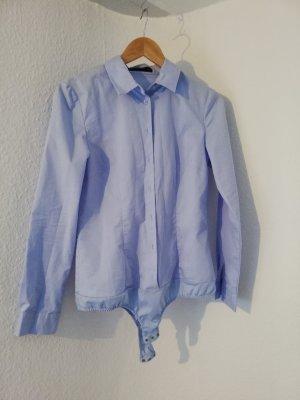 Hallhuber Blusa tipo body azul claro