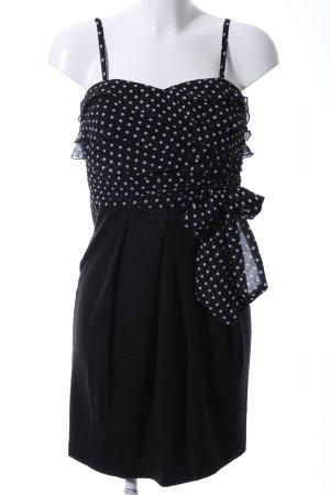 Hallhuber Vestido bustier negro-blanco estampado a lunares look casual