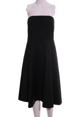 Hallhuber Vestido bustier negro estilo «business»