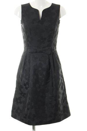 Hallhuber Vestido bustier negro estampado floral look casual